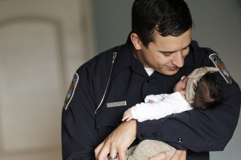 Newborn Pictures police baby