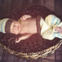 Newborn Pictures wood floor basket