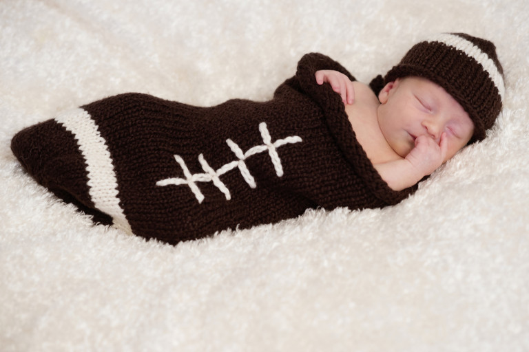 Newborn Pictures baby football sock