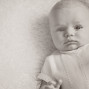 Newborn Pictures sepia big eyes