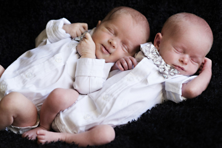 Newborn Pictures twins bowties white shirts