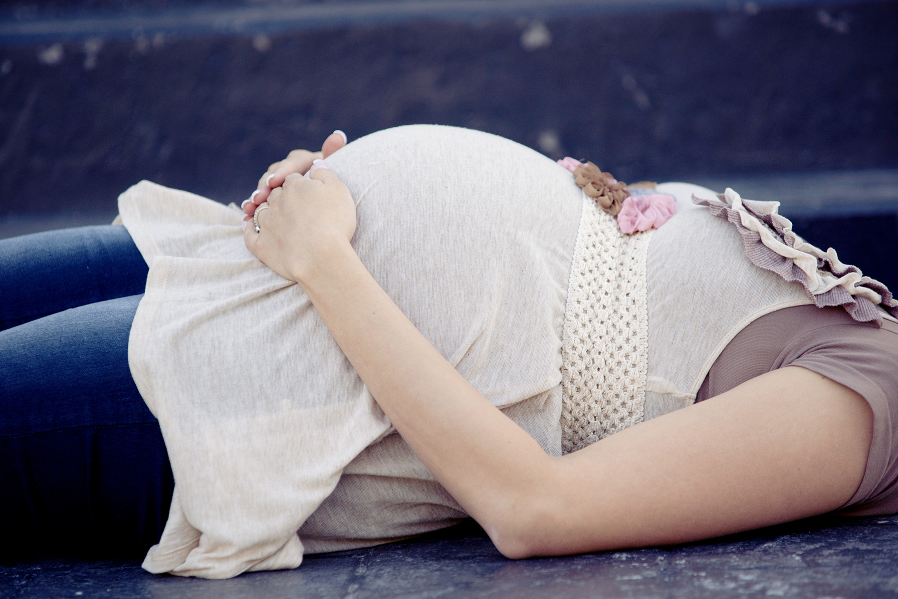 Maternity Pictures laying down