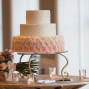 Utah Wedding Photos pink cake bouquet bokeh