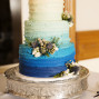 Utah Wedding Photos blue tiered cake