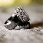 Utah Wedding Photos bokeh rings platinum