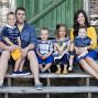 Utah Family Photos four kids yellow bue