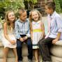 Utah Family Photos laughing kids thanksgiving point