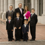 Utah Family Photos five boys happy mom