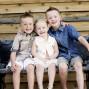 Utah Family Photos three siblings bench love