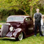 Utah Family Photos classic car brother sister