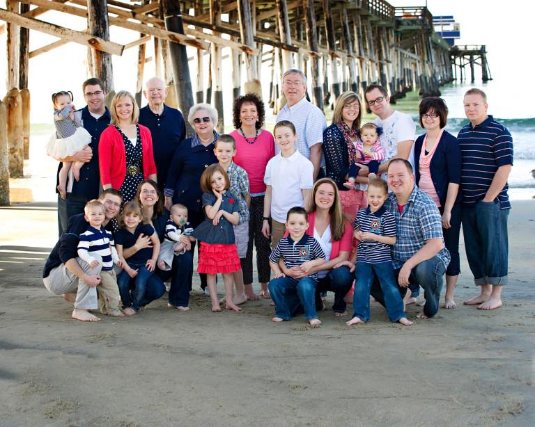 California Family Photos beach pier sand waves