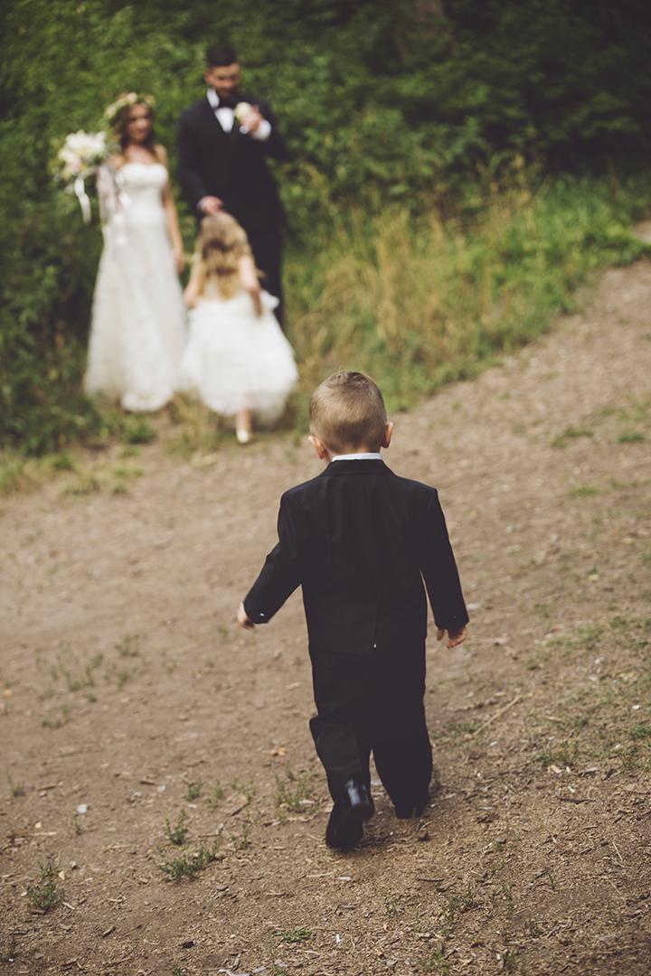Tender Family Moment at Wedding