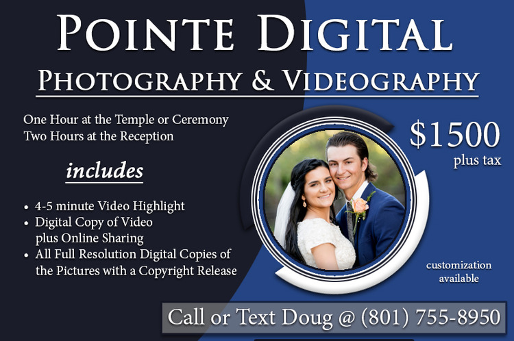 Utah Wedding Photography and Videography Pricing