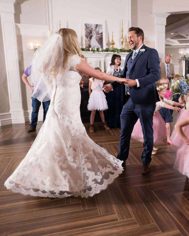 Groom loves dancing