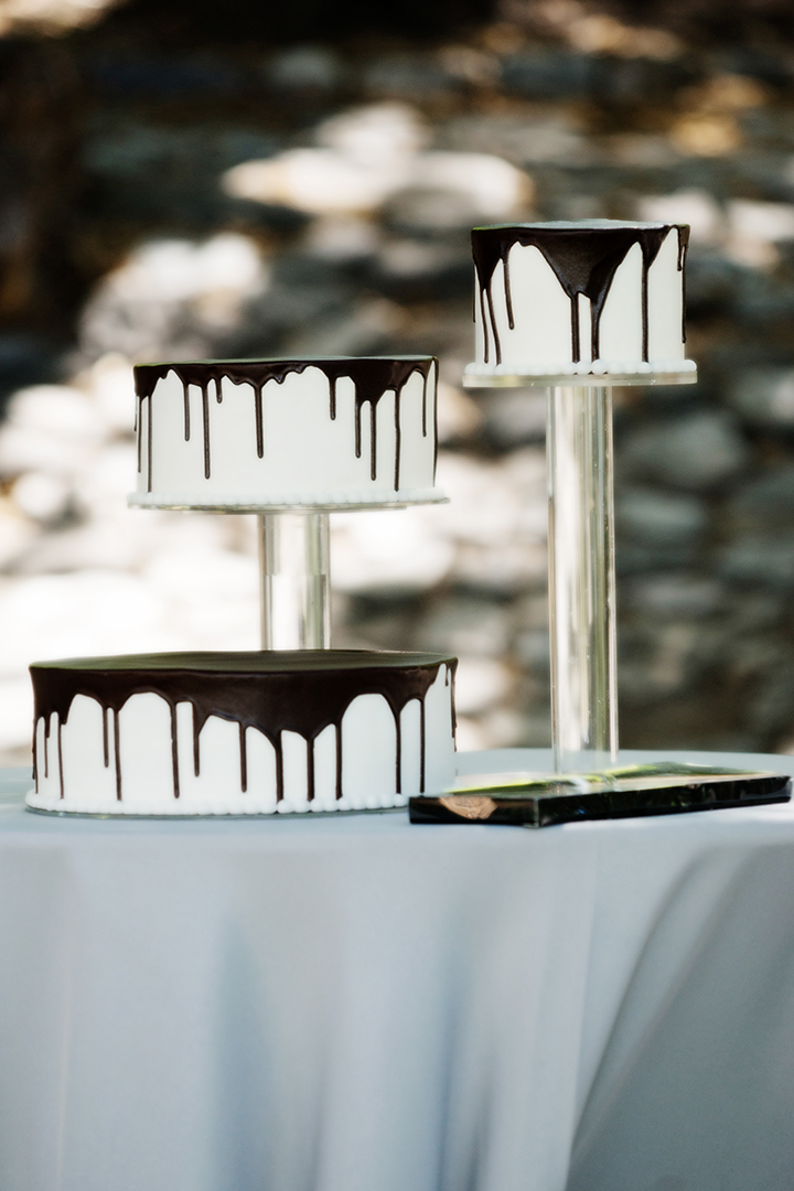 Chocolate Dripping Wedding Cake