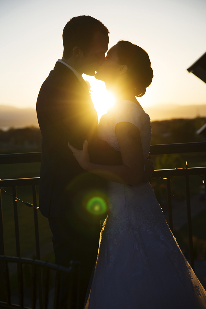 Wedding Sunset Kiss