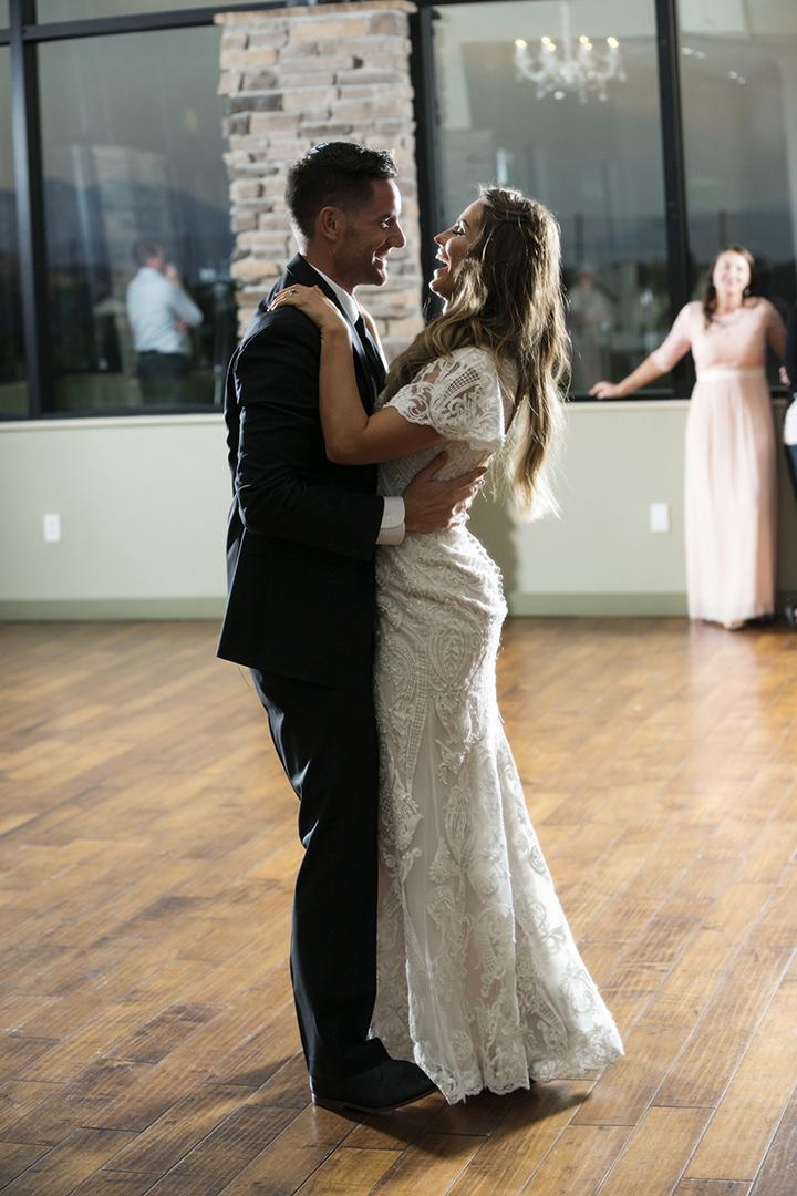 Backlit Wedding First Dance