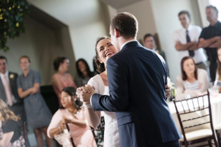 Happy Bride Wedding First Dance