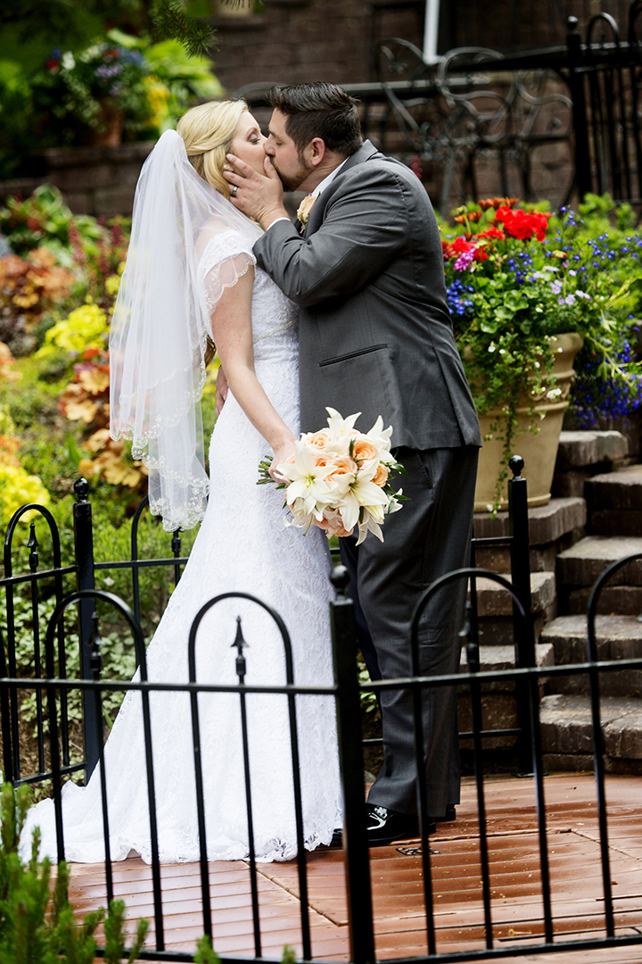 Wedding Reception Kiss Flowers