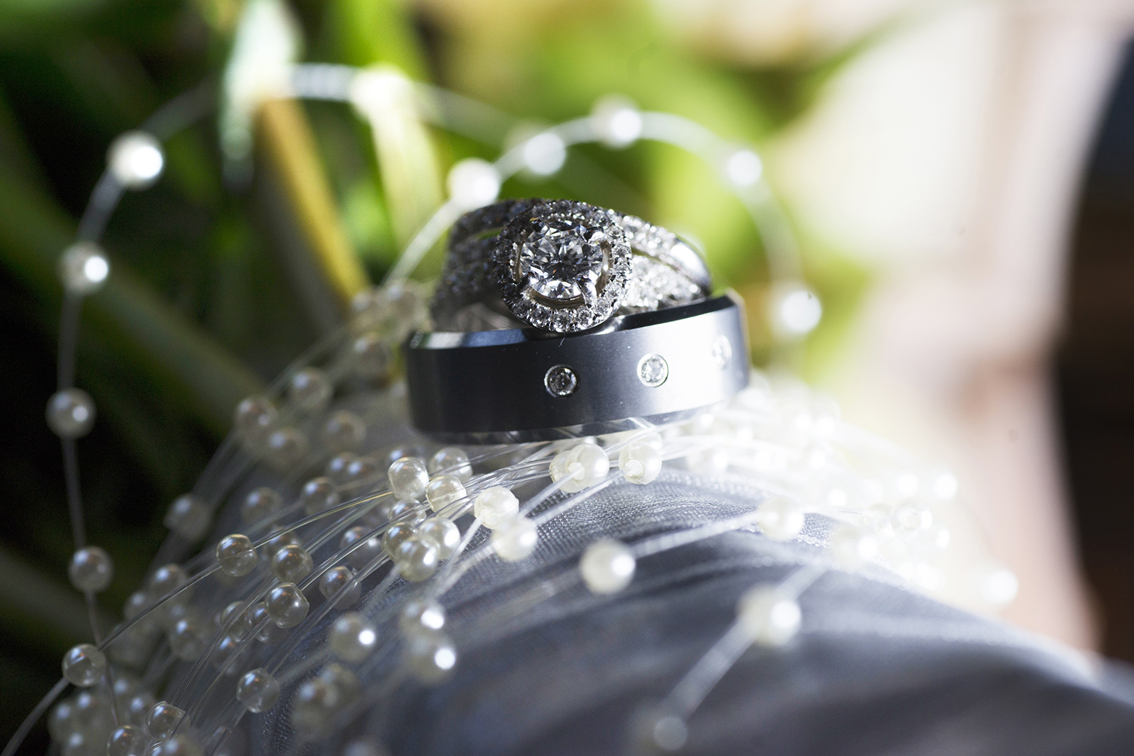 Wedding RIngs at Reception
