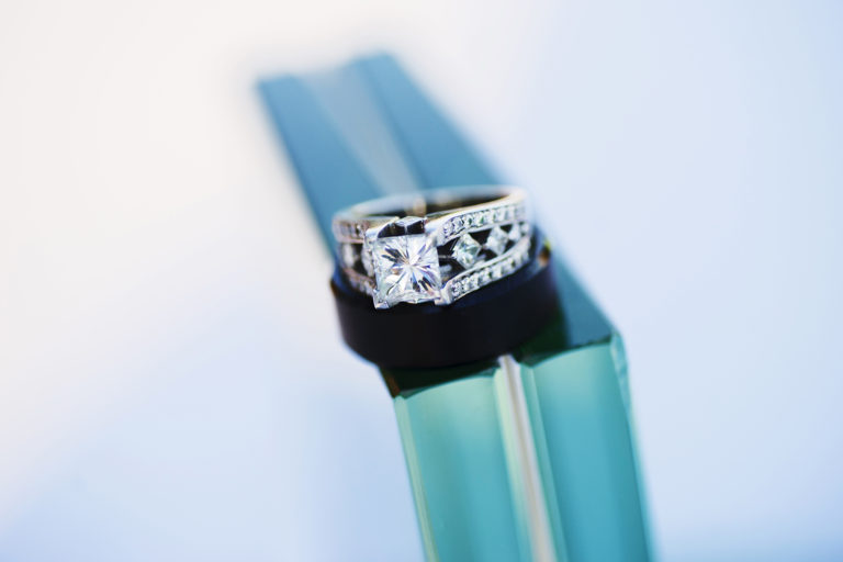 Beautiful Bokeh Wedding Rings