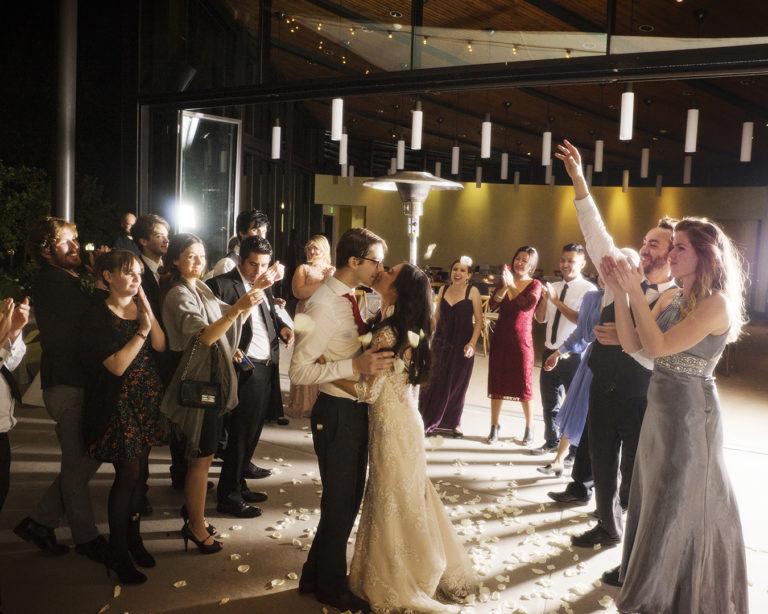 Wedding Grand Exit Kiss