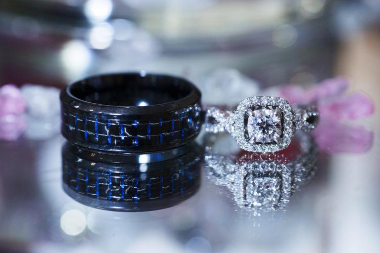 Wedding Rings on Mirror