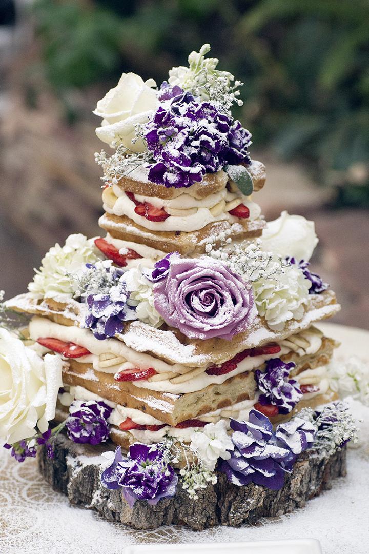 Waffle Love Wedding Cake