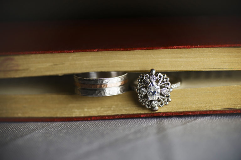 Wedding Rings in Book