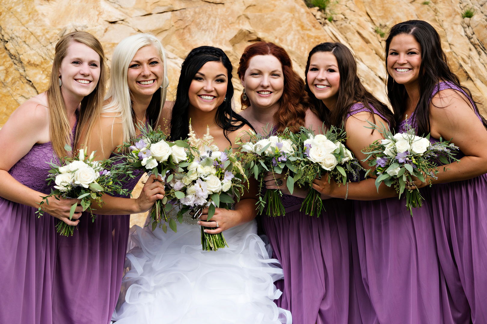 Wedding Photography at Louland Falls Bridesmaids