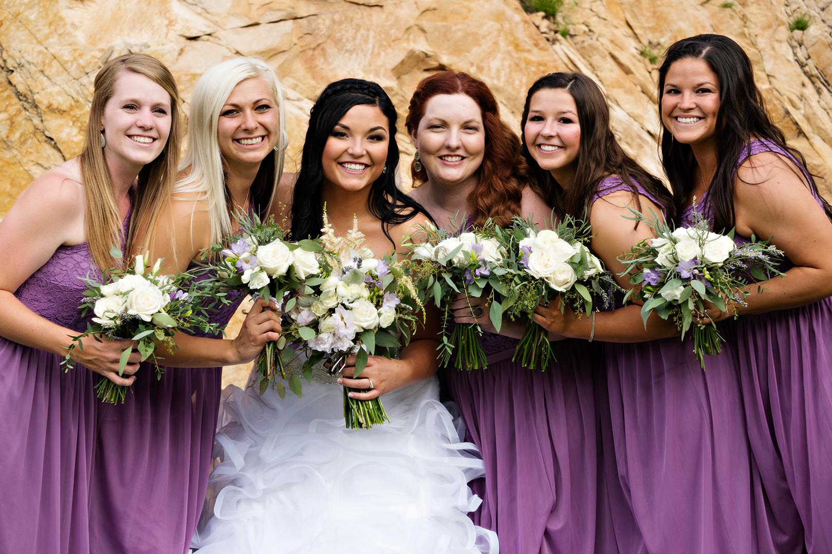Wedding Photography at Louland Falls Bridesmaids