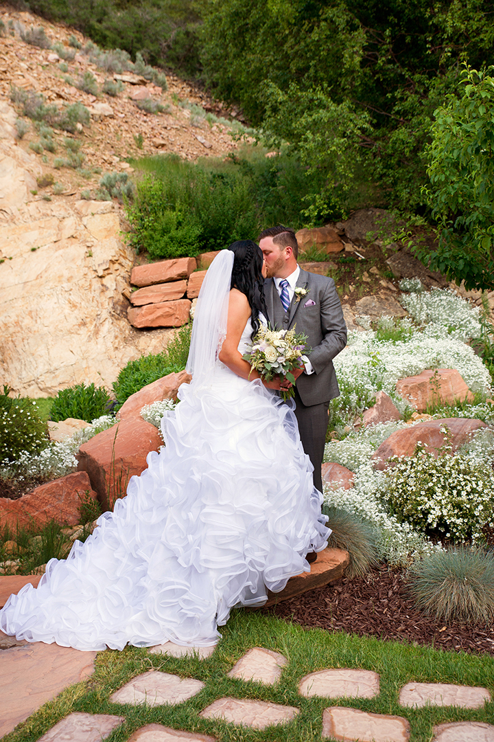 Wedding Photography at Louland Falls Bride and Groom Kissing
