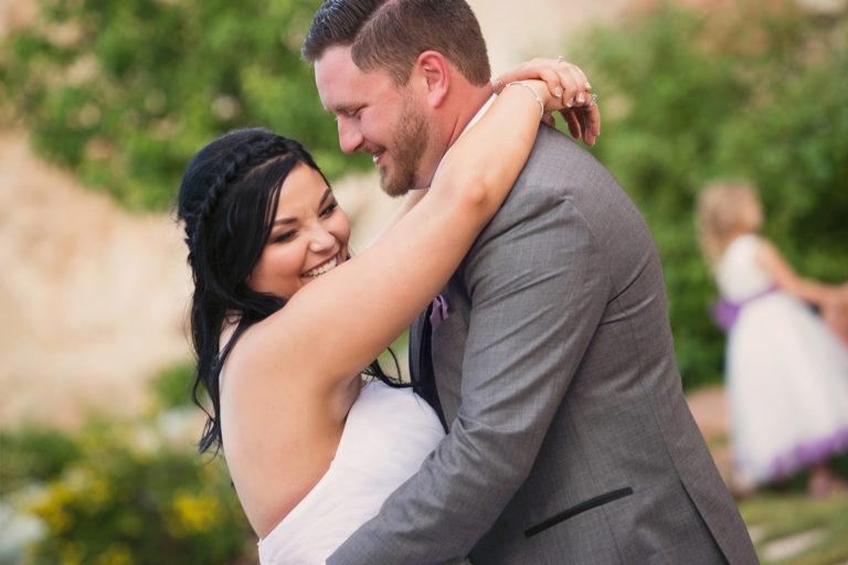 Wedding Photography at Louland Falls First Dance Close Up